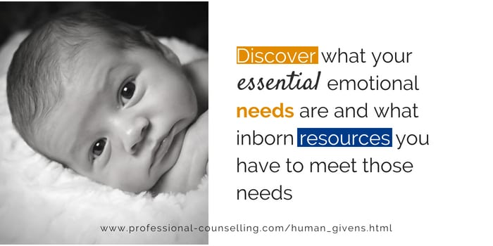 Relationships Matter  Aug 12, Human givens - emotional needs and innate resources