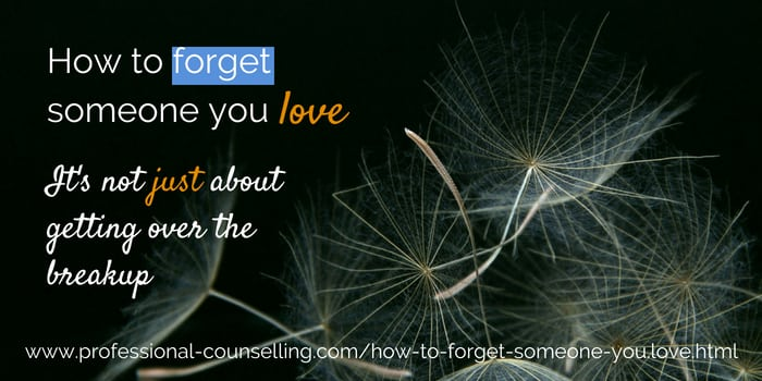Relationships Matter  Sep  5, Forget someone you love - once and for all?